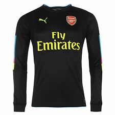 Puma Arsenal FC Home Goalkeeper Jersey 2016 2017 Mens Black/Blue Football Soccer
