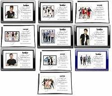 Personalised Girls Party Invitations One Direction Justin Bieber A6 + Envelopes