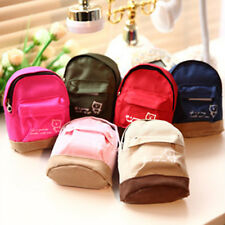 Mini Small Cute Women Lady Girl Pouch Coin Purse Backpack Canvas Bag Wallet HF