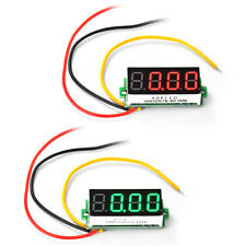 "Mini 0.36"" Red/Green LED Digital Volt Monitor Voltmeter DC 0-33V Voltage Gauge"