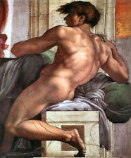 1511 Ignudo No. One by Michelangelo (classic art print, Italian Renaissance)