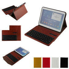 Wireless Bluetooth Removed Keyboard Buckle Leather Case for Samsung Galaxy Tab
