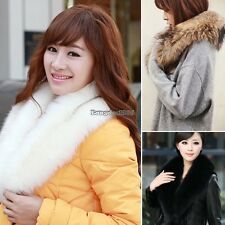 Women faux fur collar fur scarf shawl collar Scarves Warm Shawl Wrap Stole ED