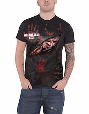 The Walking Dead T Shirt All Infected Rick Ripped Layered Official Mens Black