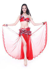 New Professional Belly Dance Costume Stage Club 2 Pics Bra&Skirt S M L