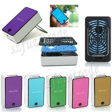 Mini Portable Air Conditioner Rechargeable Battery Hand Held Handy Cool USB Fan