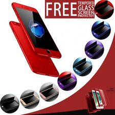 360 Ultra Thin Protection Shockproof Case Tempered Glass Cover For Apple iPhone
