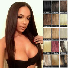 Full Head One Piece Clip In Remy Human Hair Extensions 18inch 100g Hair Pieces