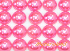 12MM Pink Half Round Flat Back Pearl Bead Gems Acrylic Embellishment Scrapbook