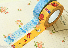 Classiky Cartoon Washi tapes A Race & Mr Fashionable planner deco masking tapes