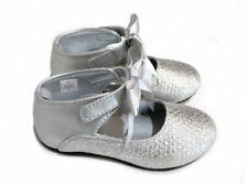 Baby Deer Silver Ankle Strap Girls Mary Jane Shoes Toddler 2inf 4 6 8 9 10 NIB