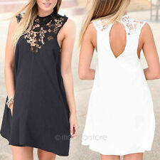 Fashion Women Ladys Summer Sexy Lace Dress Casual Party Evening Short Mini Dress
