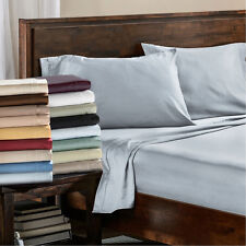 Bed Sheet Sets Flat Fitted Sheets Pillowcases Egyptian Cotton Sateen Bedding Set