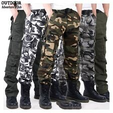 Men Casual Tactical Camouflage Cargo Pants Army Combat Camo Pattern Outdoors Pan