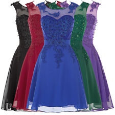 Women Short Mini Beads Cocktail Prom Evening Gown Wedding Party Bridesmaid Dress