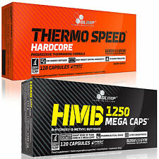 Thermo Speed Hardcore + HMB 60-180 Caps. Thermogenic Fat Burner Weight Loss