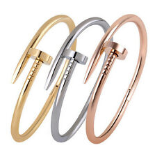 """Hot New Fashion Trend 316L Stainless Steel,Round Nail Bangle Bracelet Unisex 7"""""""