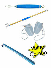 Button Hook Dressing Stick Aid Sock Aid Shoe Horn Combo Easy to use