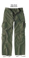 Olive Green VINTAGE PARATROOPER FATIGUES BDU Cargo Pants USMC Army USAF Seabees