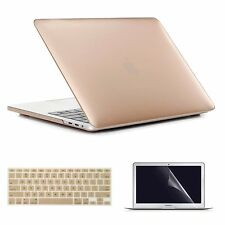 Metallic Hard Case + Keyboard Cover Shell For Macbook Pro Retina Air 11 12 13 15