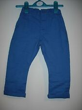 BNWOT Next Boys Chinos 'Electric Blue' Colour Age 3-9 Years
