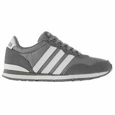 adidas V Jogger Rip Clip Trainers Mens Grey/White Sports Shoes Sneakers Footwear