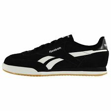 Reebok Rayen Suede Casual Trainers Mens Blk/Wht/Gum Fashion Trainers Sneakers