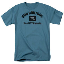 GUN CONTROL: USE BOTH HANDS Humorous Adult T-Shirt All Sizes
