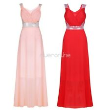 Women Sequine Bridesmaid Evening Formal Prom Party Cocktail Long Gown Maxi Dress