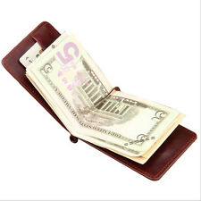 MEN Bifold Leather Wallet Money Clip ID Credit Card Photo Holder Zipper Coin Bag