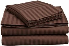 1200 Thread Count Egyptian Cotton 3 PC's Duvet Set Chocolate Stripe