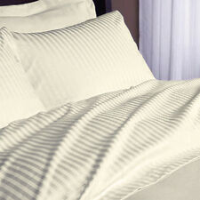 1200 Thread Count Egyptian Cotton 5 PC's Duvet Cover Set Ivory Stripe