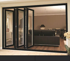 Black uPVC Bifold Doors / Black & Black-on-White upvc Bifolding Doors