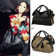 Fashion Leopard Print Bags One Shoulder Handbag Women's Handbag Leather BF901