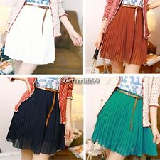 New Fashion Sexy Women Girls Retro Pleated Mini Skirts Chiffon Waist Short BF901