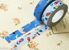 Classiky Cartoon Washi tapes D Musician & Kokeshi Doll planner deco masking tape