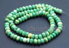Green 4*6mm Rondelle Natural Agate Loose Beads strand 15'' jewelry making-los683