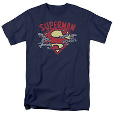 Superman CHAIN BREAKING Licensed Adult T-Shirt All Sizes