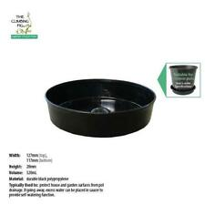 "130mm Black Plastic Pot Saucer | Range of packs | suits 5"" plant & garden pots."