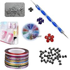 Nail Art Tips Brush Pen Acrylic Dotting Drawing Painting Liner Rhinestone WT8801