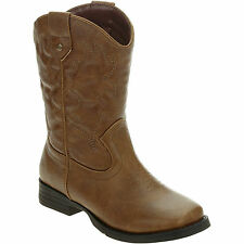 Faded Glory Kids Brown Western Cowboy Boots Shoes Size 13, 1 , 2 , 3, 5  NWT