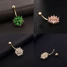 Stainless Steel Navel Jewelry Body Piercing Belly Button Rings Rhinestone