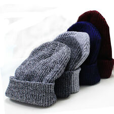 Men Women Beanies Winter Warm Ski Sports Knit Crochet Slouchy Hat Cap