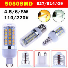 Lots E14 E27 G9 5W 6W 8W 5050 LED SMD Corn Light Bulb Spot Lamp Pure/Warm White