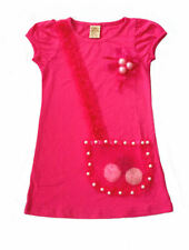 Mia Belle Baby Hot Pink Girls Dress w/Pearls 3-D Rosettes & Flowers NWT 2T 5