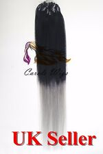 "18"" Indian Premier Remy Loop Micro Ring 100% Human Hair Extensions 5A UK Seller"