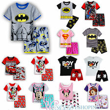 Todller Kids Baby Boys Girls Summer Clothes T-shirt Short Pants 2Pcs Outfits Set