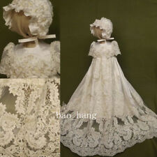 Lace Beading Toddler Baptism Dresses Christening Gowns Baby Robe White Ivory New