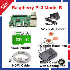 2016 Raspberry Pi 3 16G NOOBS Starter Kit with 5V 2.5A US/UK/AU/EU Power Supply