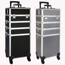 4-in-1 Make Up Vanity Case Cosmetic Hairdressing Box Nail Saloon Beauty Trolley